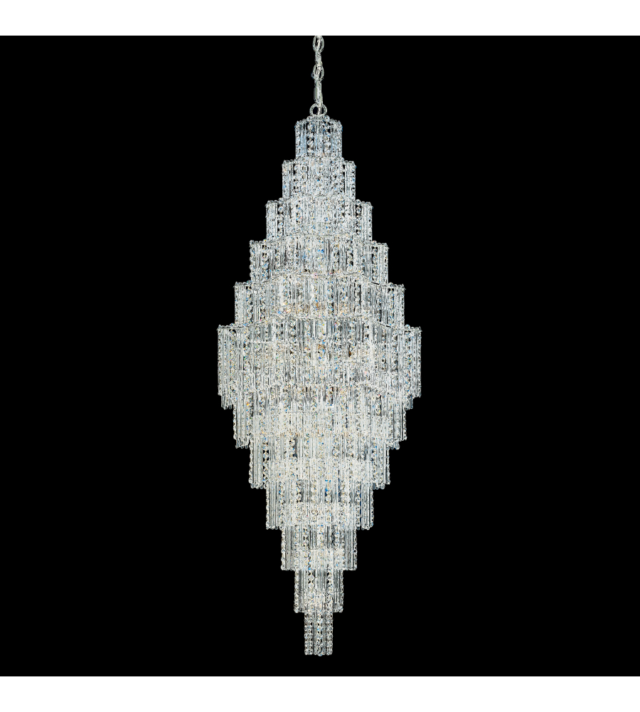 Schonbek 2663 40 jubilee 41 light 110v chandelier in silver with schonbek 2663 40 jubilee 41 light 110v chandelier in silver with clear gemcut crystal arubaitofo Images