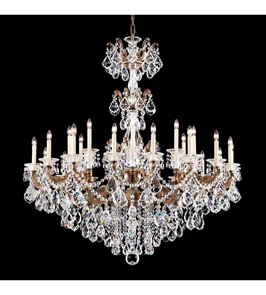 schonbek sophia list thirty chandelier five light crystal lighting