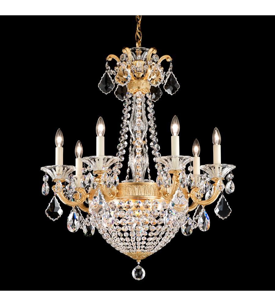 Schonbek 5077 22s la scala empire 9 light 110v chandelier in schonbek 5077 22s la scala empire 9 light 110v chandelier in heirloom gold with clear crystals from swarovski aloadofball Images