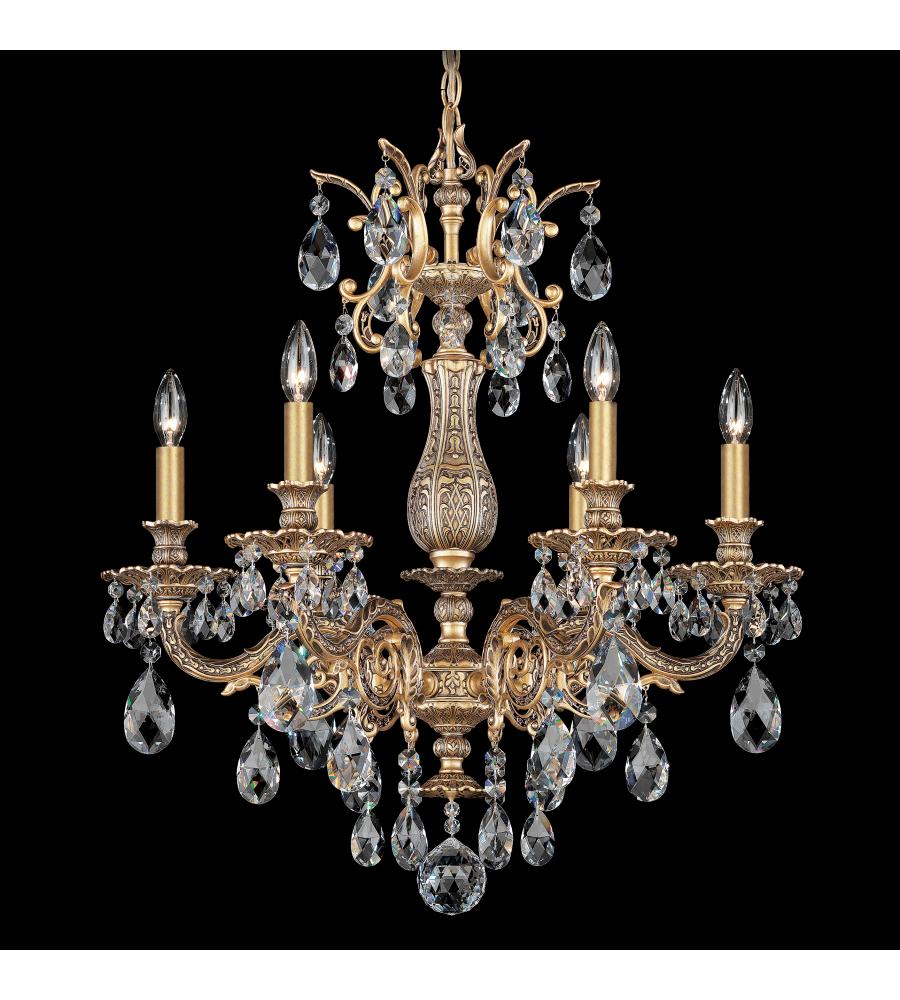 Schonbek 5676 26s milano 6 light 110v chandelier in french gold with schonbek 5676 26s milano 6 light 110v chandelier in french gold with clear crystals from swarovski arubaitofo Gallery