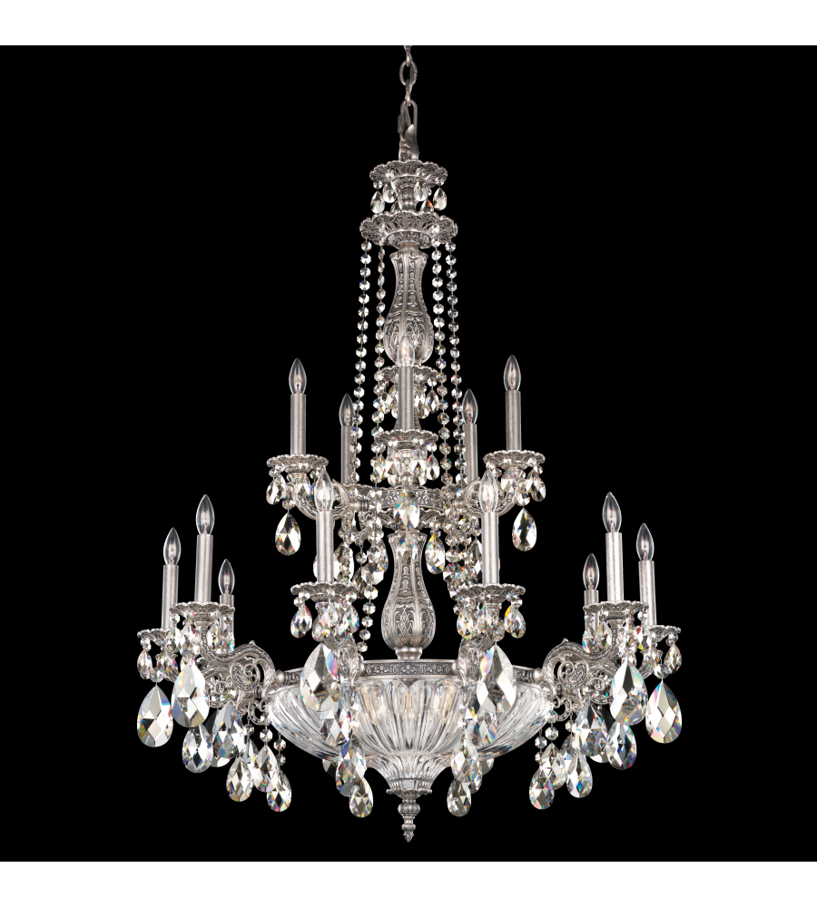 Schonbek 5694 23sh milano 19 light 110v chandelier in etruscan gold schonbek 5694 23sh milano 19 light 110v chandelier in etruscan gold with silver shade crystals from swarovski aloadofball Image collections