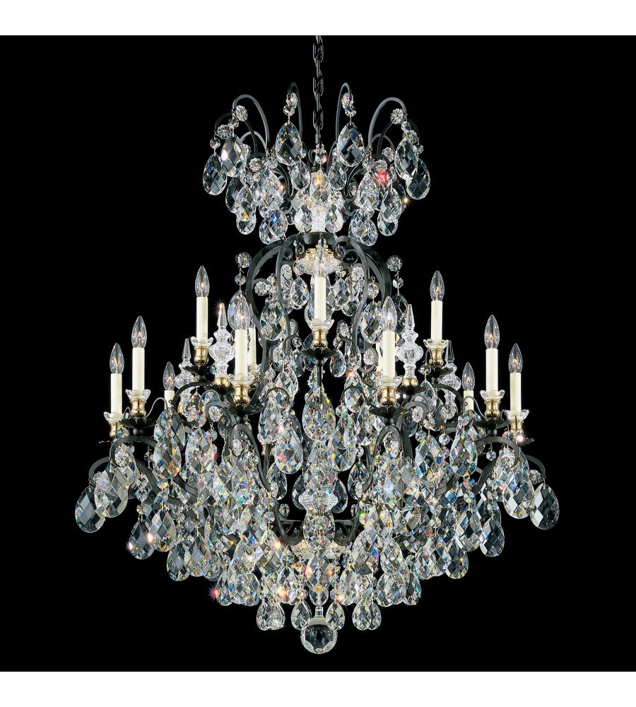 Schonbek Renaissance Rock Crystal Chandelier: Schonbek 3773-26 Renaissance 16 Light 110v Chandelier In