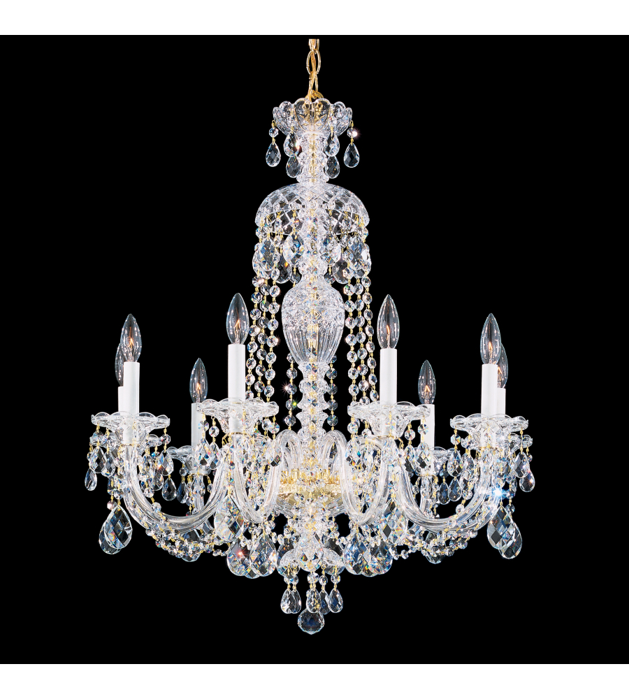 Schonbek 2996 40a sterling 9 light 110v chandelier in silver with schonbek 2996 40a sterling 9 light 110v chandelier in silver with clear spectra crystal arubaitofo Gallery