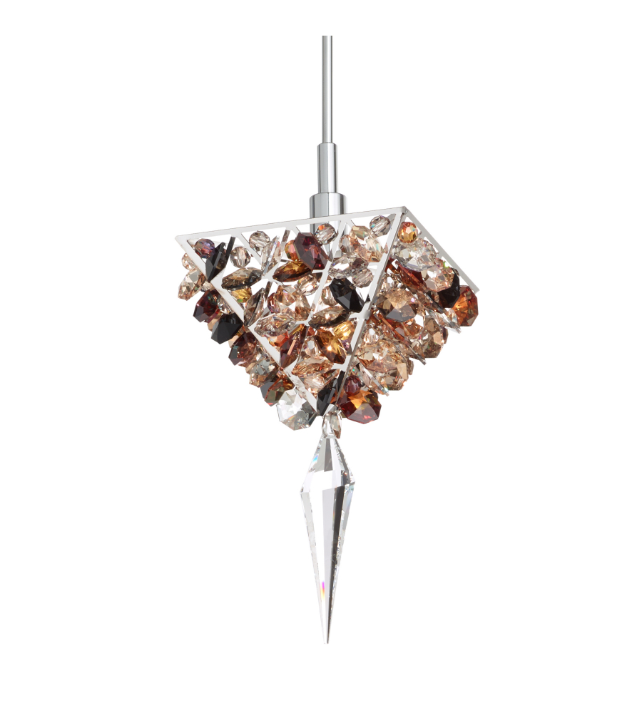 Schonbek vr0306s vertex 1 light 110v pendant in stainless steel with schonbek vr0306s vertex 1 light 110v pendant in stainless steel with clear crystals from swarovski aloadofball Gallery