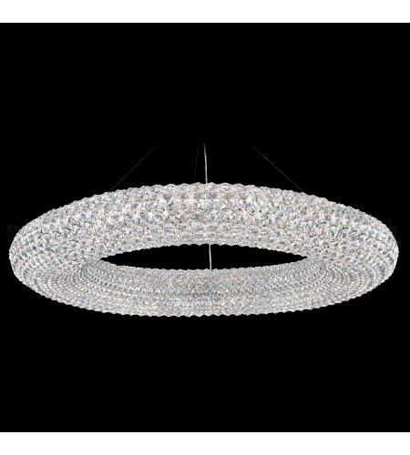 Schonbek Ca3939a Cassini 28 Light 110v Pendant In Stainless Steel With Clear Spectra Crystal