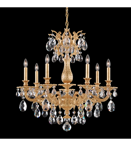 Schonbek 5677 26tk milano 7 light 110v chandelier in french gold schonbek 5677 22a milano 7 light 110v chandelier in heirloom gold with clear spectra crystal mozeypictures Gallery