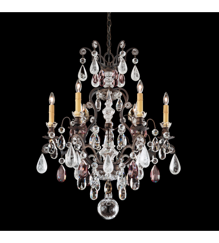 Schonbek 3570 55bk renaissance rock crystal renaissance rock 7 light schonbek 3570 22ad renaissance rock crystal 7 light 110v chandelier in heirloom gold with amethyst and black diamond rock crystal colors mozeypictures Images