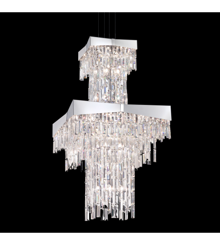 Schonbek Rf2460n-401a Riviera 24 Light 110v Chandelier In Stainless Steel With Clear Spectra Crystal