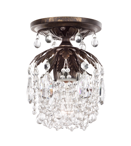 Schonbek 1250-22cl Rondelle 1 Light 110v Close To Ceiling In Heirloom Gold With Clear Vintage Crystal