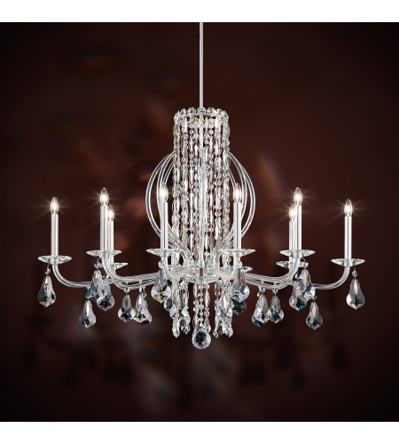 Schonbek rs8310n 22s sarella 10 light 110v chandelier in heirloom schonbek rs8310n 06a sarella 10 light 110v chandelier in white with crystal spectra crystal mozeypictures Choice Image