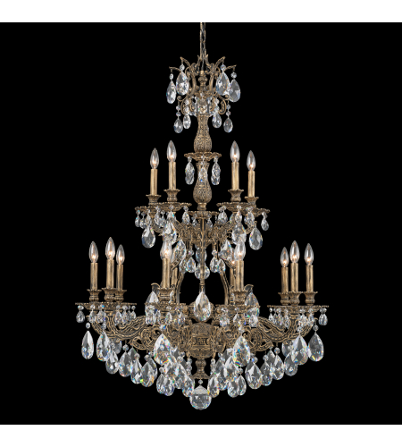 Schonbek 6964-86a Sophia 15 Light 110v Chandelier In Midnight Gild With Clear Spectra Crystal