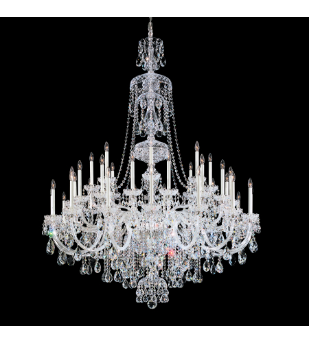 Schonbek 3612-40h Sterling 45 Light 110v Chandelier In Silver With Clear Heritage Crystal