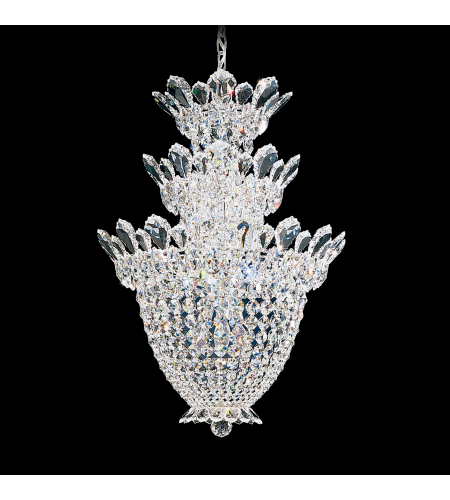 Schonbek 5847s Trilliane 15 Light 110v Chandelier In Silver With Clear Crystals From Swarovski