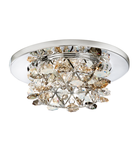 Schonbek Vcr432bul Vertex 1 Light 12v Recessed In Stainless Steel With Bullet Crystals From Swarovski