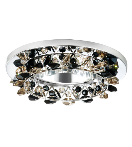 Schonbek Vcr451boa Vertex 1 Light 12v Recessed In Stainless Steel With Boa Crystals From Swarovski