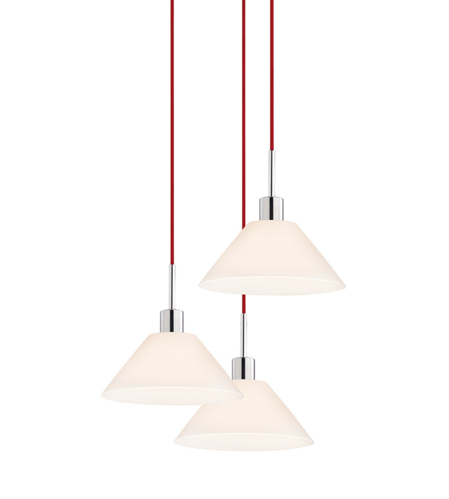 Sonneman glass pendants 356301r 3 3 light cone 3 light pendant in sonneman glass pendants 356301r 3 3 light cone 3 light pendant in polished chrome aloadofball Choice Image
