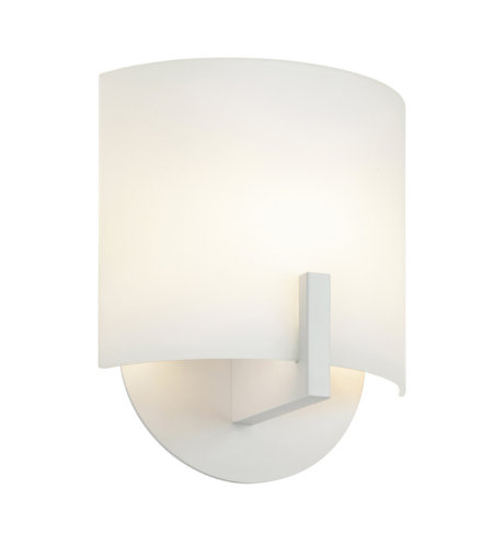 Sonneman Scudo Led 1727.98 1 Light Led Sconce In Textured White