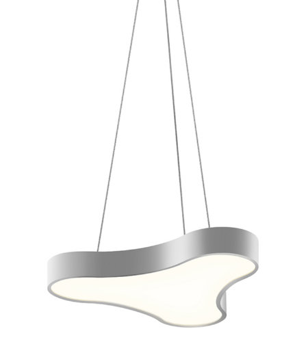 Sonneman 1730.16 Corso Rhythm LED Pendant in Bright Satin Aluminum
