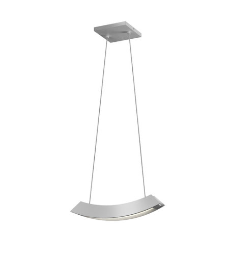 Sonneman 1740.16 Kabu Small LED Pendant in Bright Satin Aluminum