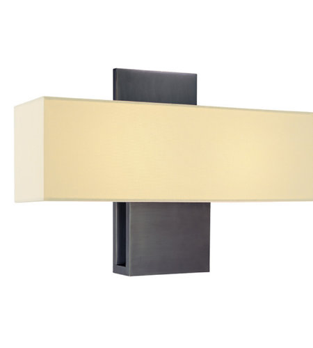Sonneman 1861.24f Ombra Contemporary 2 Light Fluorescent Sconce In Rubbed Bronze