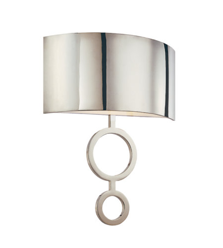 Sonneman 1881.35 Dianelli 2 Light Sconce in Polished Nickel
