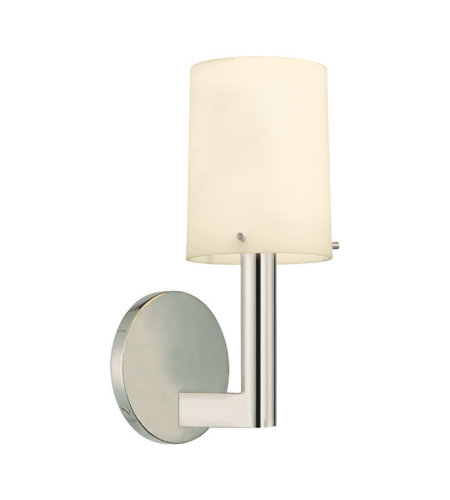 Sonneman Calmo-Roto 1911.35 1 Light Sconce In Polished Nickel