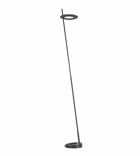 Sonneman 2415.25 Ringlo LED Torchiere in Satin Black
