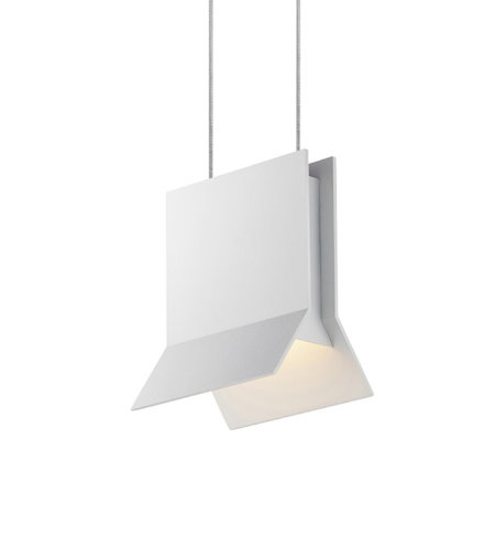 Sonneman 2730.98 Lambda LED Pendant in Textured White