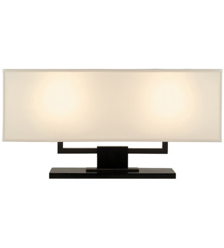 Sonneman Hanover 3312.51 2 Light Banquette Lamp In Black Brass