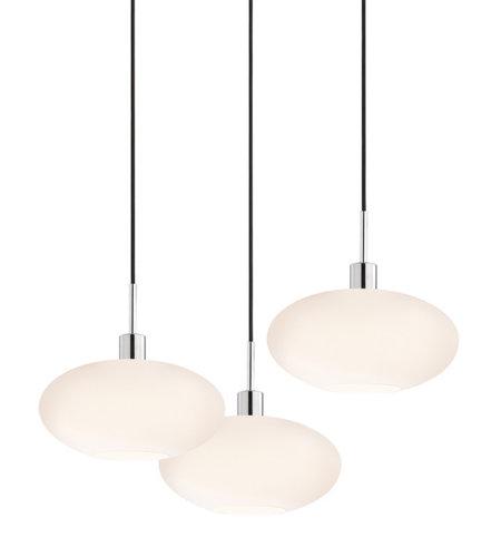 3 light pendant vintage sonneman glass pendants 356701k3 light grand oval 3light pendant in polished chrome 356701r5 5light