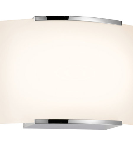 Sonneman 3871.01led Wave Led Contemporary 1 Light 1-Light Led Sconce In Polished Chrome