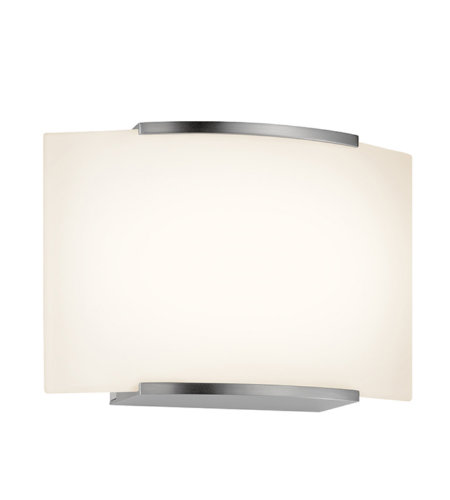 Sonneman 3871.13led Wave Led Contemporary 1 Light 1-Light Led Sconce In Satin Nickel