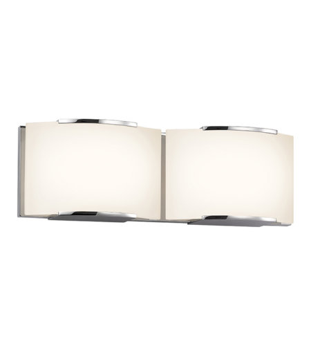 Sonneman 3872.01led Wave Led Contemporary 2 Light 2-Light Led Bath Bar In Polished Chrome
