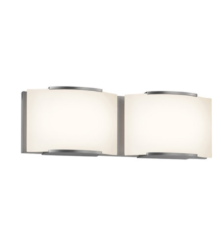 Sonneman 3872.13led Wave Led Contemporary 2 Light 2-Light Led Bath Bar In Satin Nickel