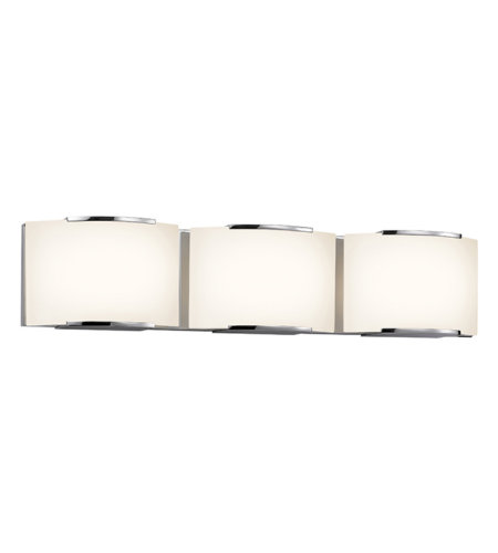 Sonneman 3873.01led Wave Led Contemporary 3 Light 3-Light Led Bath Bar In Polished Chrome