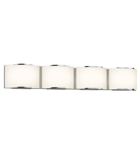 Sonneman 3874.01led Wave Led Contemporary 4 Light 4-Light Led Bath Bar In Polished Chrome