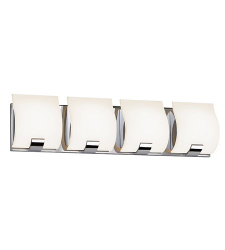 Sonneman 3884.01led Aquo Led Contemporary 4 Light 4-Light Led Bath Bar In Polished Chrome