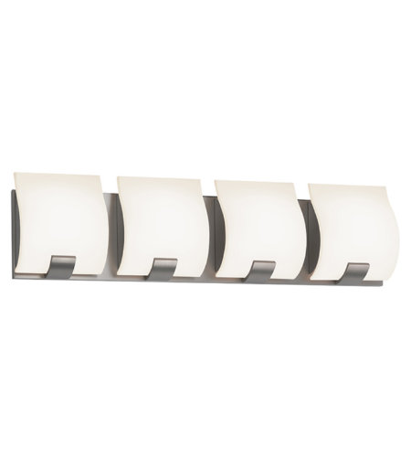 Sonneman 3884.13led Aquo Led Contemporary 4 Light 4-Light Led Bath Bar In Satin Nickel