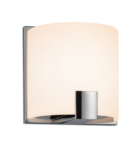 Sonneman 3891.01led C-Shell Led Contemporary 1 Light 1-Light Led Sconce In Polished Chrome