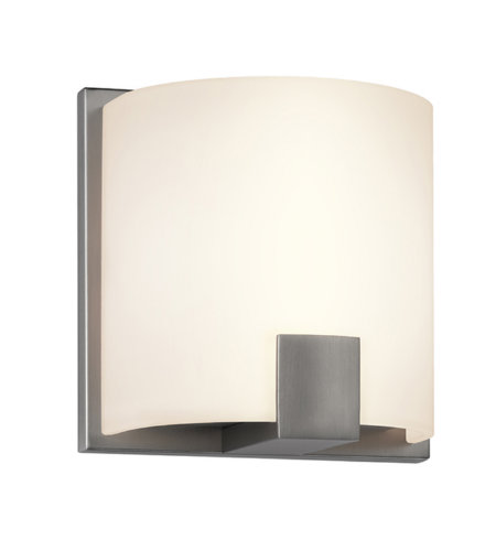 Sonneman 3891.13led C-Shell Led Contemporary 1 Light 1-Light Led Sconce In Satin Nickel