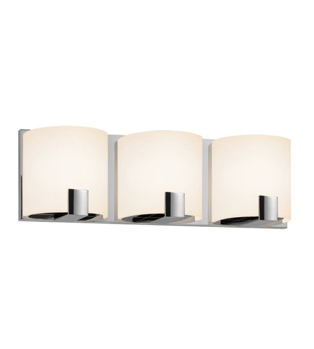 Sonneman 3893.01led C-Shell Led Contemporary 3 Light 3-Light Led Bath Bar In Polished Chrome