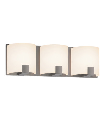 Sonneman 3893.13led C-Shell Led Contemporary 3 Light 3-Light Led Bath Bar In Satin Nickel