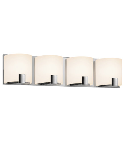 Sonneman 3894.01led C-Shell Led Contemporary 4 Light 4-Light Led Bath Bar In Polished Chrome