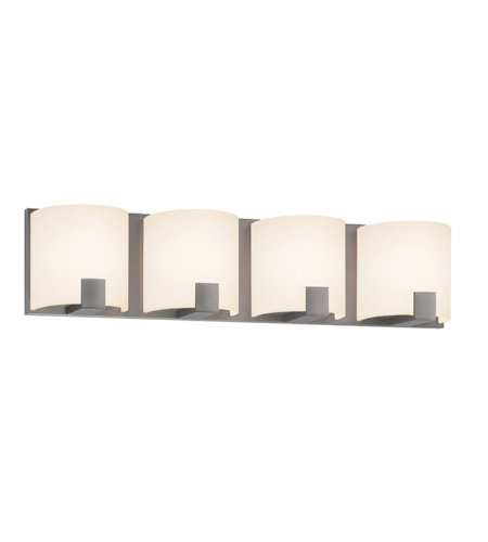 Sonneman 3894.13led C-Shell Led Contemporary 4 Light 4-Light Led Bath Bar In Satin Nickel