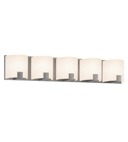 Sonneman 3895.13led C-Shell Led Contemporary 5 Light 5-Light Led Bath Bar In Satin Nickel