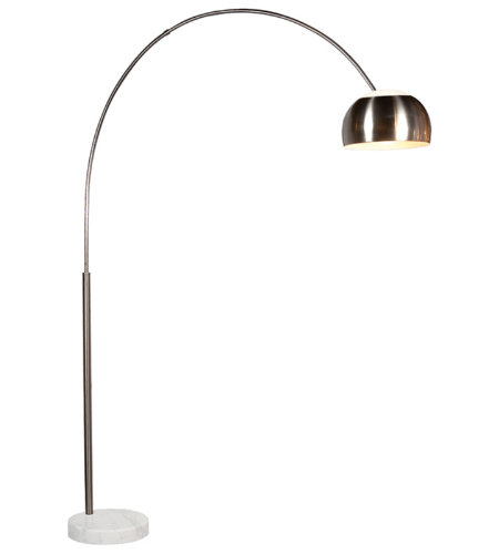 Sonneman 4096.13g Arc Contemporary 1 Light Floor Lamp In Satin Nickel