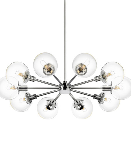 Sonneman 4598.01C Orb 110-Light Radial Pendant in Polished Chrome
