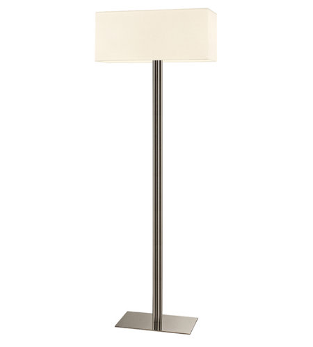Sonneman 4613.13 Madison Contemporary 2 Light Floor Lamp In Satin Nickel