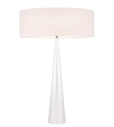 Sonneman 6140.60OL Big Table Cone 3 Light Table Lamp in Gloss White