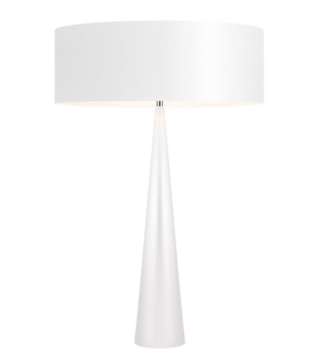 Sonneman 6140.60W Big Table Cone 3 Light Table Lamp in Gloss White